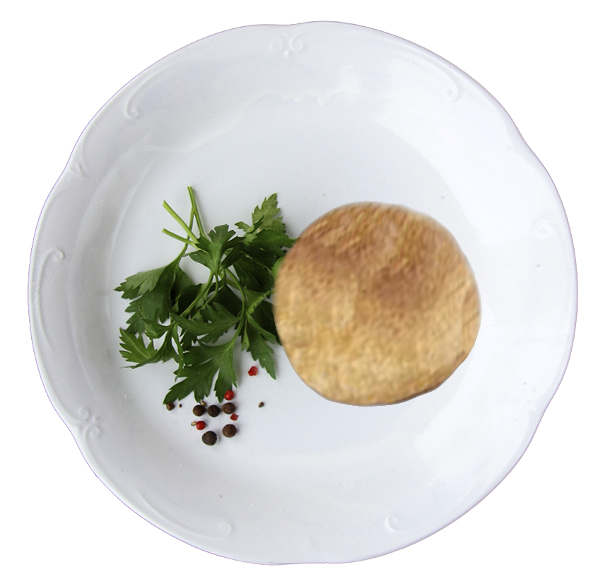 vegan plated knish